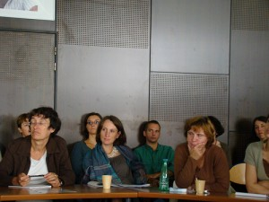 Danielle Musset (Musée de Salagon), Corinne Cassé (association Paroles Vives) et Stéphanie Méchine (Archives de l'Université de Paris)