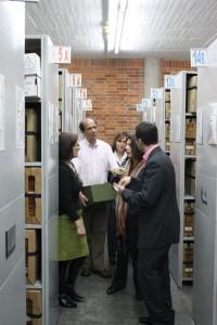Dans les salles de dépôt de l'Archivo General de la Nación