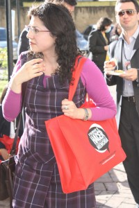 "Une participante au symposium ""Vamos a hacer memoria"" (22-25 septembre 2009, Bogotá, Colombie)"