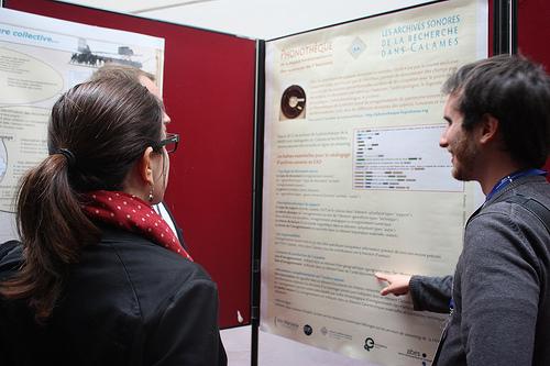 Jabes 2014 : présentation d'un poster par la phonothèque de la MMSH