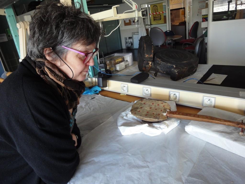 Anne HOUSSAY, Atelier de restauration de la Cité de musique (cliché HCH)