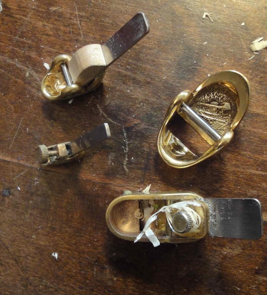 Petits rabots de luthier (atelier d'A. Sakellarides à Marseille)