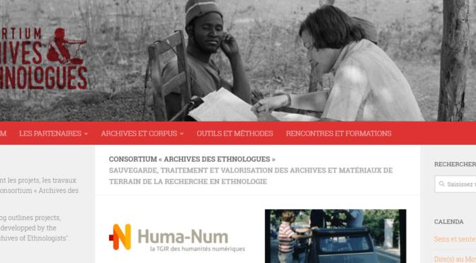Le Consortium «Archives des ethnologues» aux Rencontres Huma-Num 2018