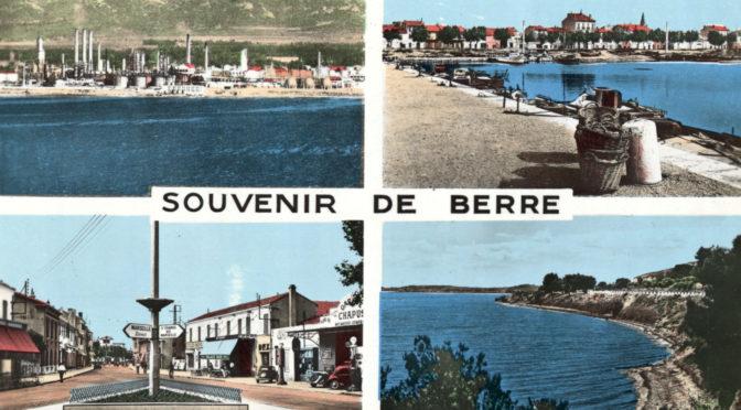 Souvenir de Berre. Quatre vues du village. Carte envoyée en 1960 avec texte au dos.
