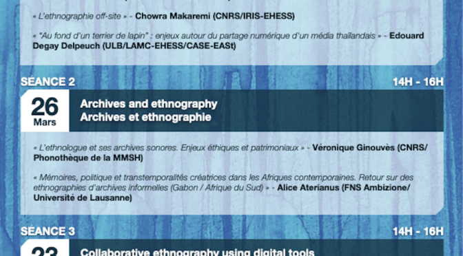 Digital ethnography, séminaire ABBA – Anthropologie à Bruxelles – Brussels Anthropology